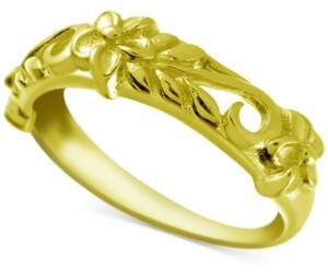 Kona Bay Decorative Floral Band in Gold-Plate
