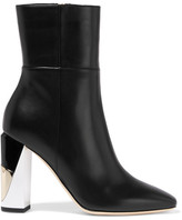Jimmy Choo Melrose Leather Boots - Black
