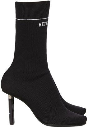 Vetements Black Knit High-heeled Boots