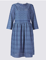 M&S Collection Pure Cotton Cutwork Tunic Midi Dress