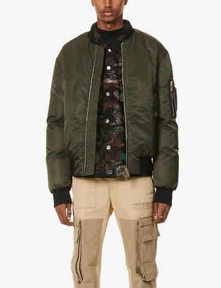 DSQUARED2 Icon zipped padded shell bomber jacket