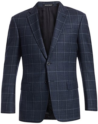 Emporio Armani Wool Windowpane Blazer