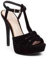 Jessica Simpson Bassie Kid Suede T-Strap Sandals