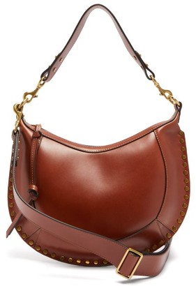 Isabel Marant Naoko Studded-leather Shoulder Bag - Womens - Tan