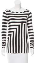 Diane von Furstenberg Striped Long Sleeve Top