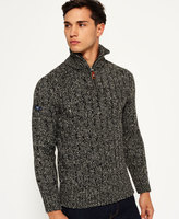Superdry Jacob Fleck Rib Henley Sweater