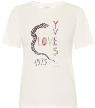 Saint Laurent Love Yves 1975 cotton-jersey T-shirt