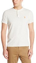 U.S. Polo Assn. Men's Slim Fit Slub Space Dyed Henley T-Shirt