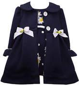 Bonnie Jean Baby Girls Sleeveless Dress Set, Newborn-3 Months , Blue