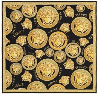 Versace Medusa silk twill scarf