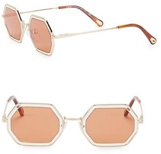 Chloé 53MM Hexagon Sunglasses