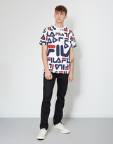 Fila Logan All Over Print T-Shirt White