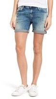 Mavi Jeans Women's Pixie Ripped Denim Boyfriend Shorts
