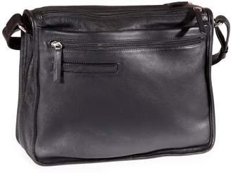 Derek Alexander Twin Zip Leather Shoulder Bag