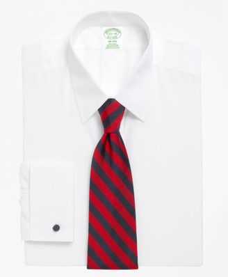 Brooks Brothers Milano Slim-Fit Dress Shirt, Non-Iron Point Collar French Cuff