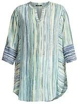 Thumbnail for your product : NIC+ZOE, Plus Size Awakening Striped Tunic Top