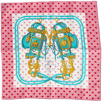 One Kings Lane Vintage Hermes Pink Brides de Gala Love Scarf - Vintage Lux