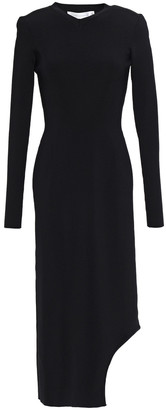 Victoria Beckham Asymmetric Stretch-knit Midi Dress