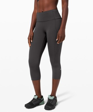 "Lululemon Fast and Free High-Rise Crop II 19"" *Non-Reflective Nulux"