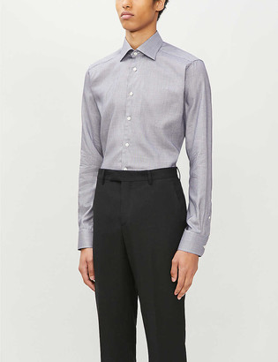 Eton Dobby contemporary-fit cotton and lyocell-blend shirt
