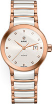 Rado R30183742 Centrix rose gold and ceramic watch
