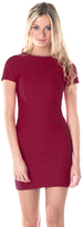 Missy Empire Beckie Wine Textured Bodycon Dress