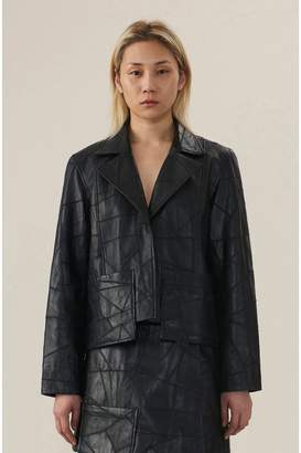 Ganni Patch Leather Jacket