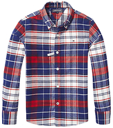 Tommy Hilfiger Boys' Check Long Sleeve Shirt, Red/White/Blue