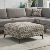 Corrigan Studio Lamont Storage Ottoman Corrigan Studio Upholstery Color: Green/Grey