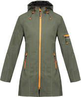 Ilse Jacobsen Rain 37B Army Long Softshell Raincoat