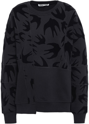 McQ Oversized Flocked French Cotton-terry T-shirt
