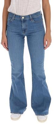 J Brand Valentina High-Rise Flared Jeans