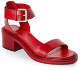 CNC Costume National Red Open Toe Two Piece Sandals