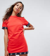 Fila Petite Dress With Logo Tape Detail And Cap Sleeves