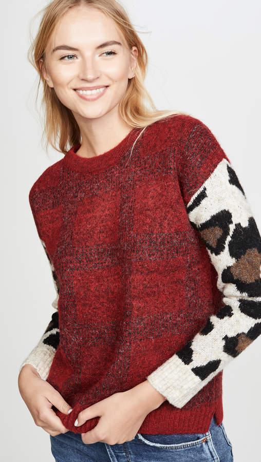 Dna Plaid Leopard Sweater