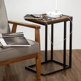 Delicia Decor Furniture Wood and Metal C Style End Table Gracie Oaks