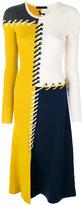 Cédric Charlier knitted patchwork dress - women - Cashmere/Virgin Wool - 38