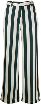 Jejia Striped Wide-Leg Trousers