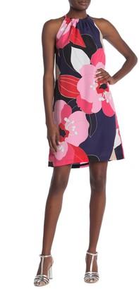 Trina Turk Rancho Halter Floral Print Dress