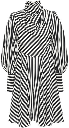 Zimmermann Draped Striped Stretch-silk Mini Dress