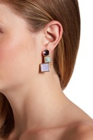 Rebecca Minkoff Three Stone Earrings