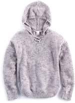 Mudd Girls 7-16 Size Lace-Up Chenille Sweater Hoodie