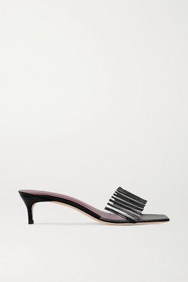 BY FAR Mei Pvc And Patent-leather Mules
