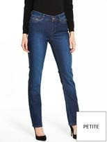 Wallis Petite Harper Straight Leg Jean - Mid Wash
