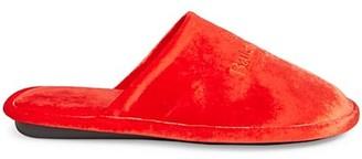 Balenciaga Velvet Mule Slippers