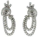 Kwiat Platinum Diamond Waterfall Clip-On Earrings