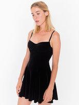 American Apparel Velvet Underwire Bustier Skater Dress