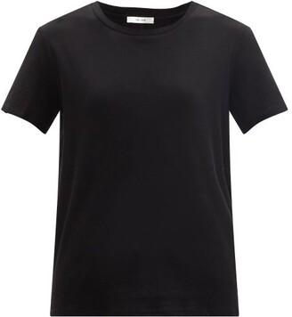 The Row Ankara Cotton-blend Jersey T-shirt - Black