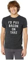 Original Retro Brand The I'D Put Bacon on That Short Sleeve Tri-Blend Tee (Streaky Navy) Men's T Shirt