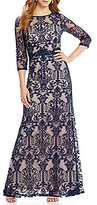 Sangria Lace Gown